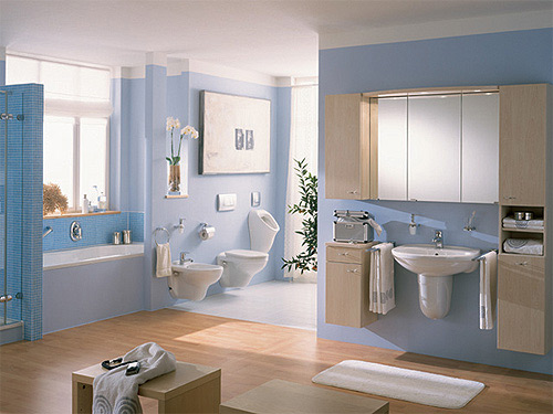Badezimmer Blau Grau